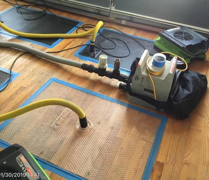 Water Damage to Wood Floors Before